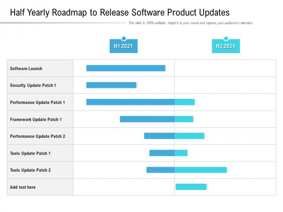 Half Yearly Roadmap To Release Software Product Updates Demonstration