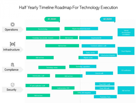 Half Yearly Timeline Roadmap For Technology Execution Inspiration