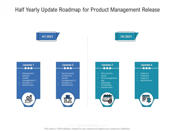 Half Yearly Update Roadmap For Product Management Release Designs