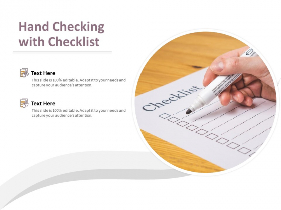 Hand Checking With Checklist Ppt PowerPoint Presentation Model Sample