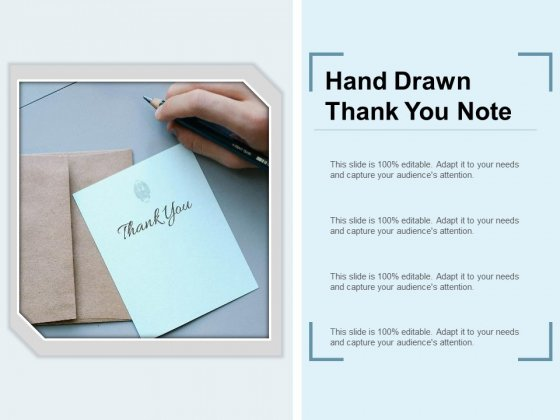 Hand Drawn Thank You Note Ppt Powerpoint Presentation Model Graphic Tips