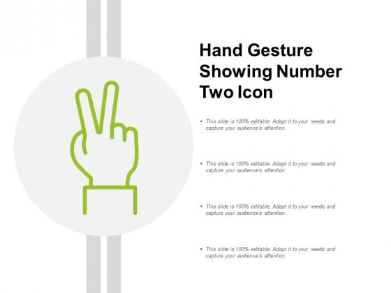 Hand Gesture Showing Number Two Icon Ppt Powerpoint Presentation Slides Gallery