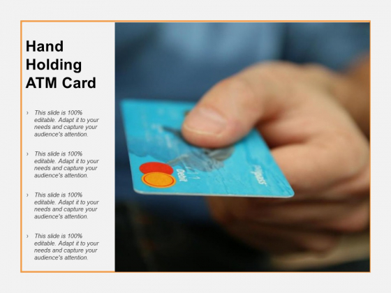 Hand Holding ATM Card Ppt PowerPoint Presentation Model Graphics Pictures