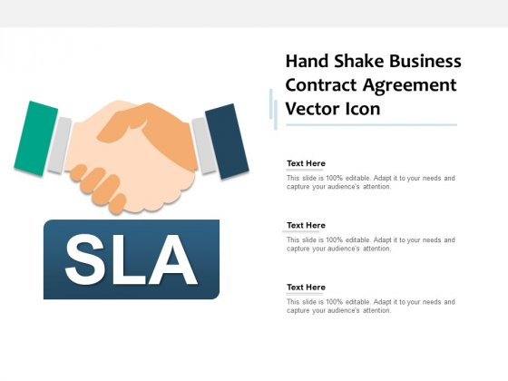 Hand Shake Business Contract Agreement Vector Icon Ppt PowerPoint Presentation Infographic Template Display