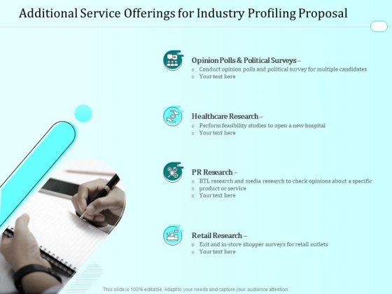 Handling Industry Analysis Additional Service Offerings For Industry Profiling Proposal Download PDF