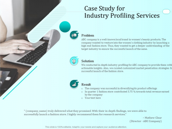 Handling Industry Analysis Case Study For Industry Profiling Services Ideas PDF