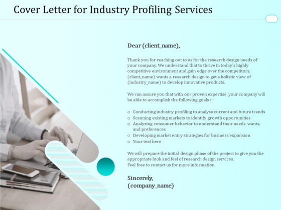 Handling Industry Analysis Cover Letter For Industry Profiling Services Professional PDF
