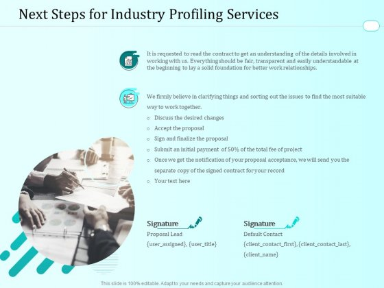 Handling Industry Analysis Next Steps For Industry Profiling Services Elements PDF