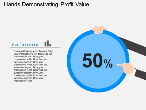 Hands Demonstrating Profit Value Powerpoint Templates
