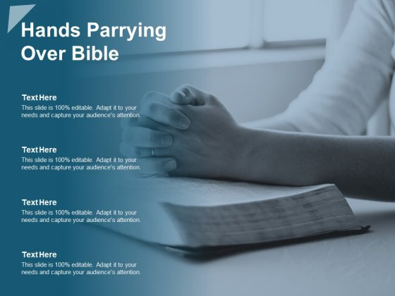 Hands Parrying Over Bible Ppt PowerPoint Presentation Pictures Slide Portrait