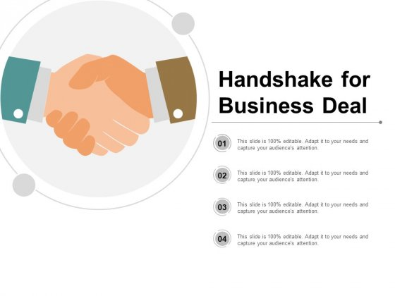 Handshake For Business Deal Ppt PowerPoint Presentation Outline Mockup