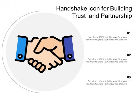 Handshake Icon For Building Trust And Partnership Ppt PowerPoint Presentation Inspiration Guide PDF