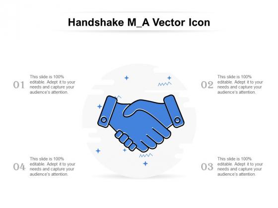 Handshake M A Vector Icon Ppt PowerPoint Presentation Slides Visual Aids