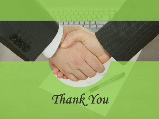 Handshake Thank You Slide Design Powerpoint Slides