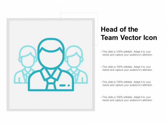 Head Of The Team Vector Icon Ppt PowerPoint Presentation Outline Master Slide
