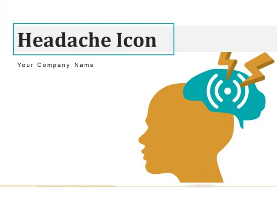 Headache Icon Circle Arrows Ppt PowerPoint Presentation Complete Deck