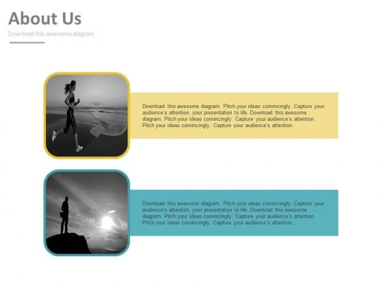 Health And Fitness About Us Design Powerpoint Slides