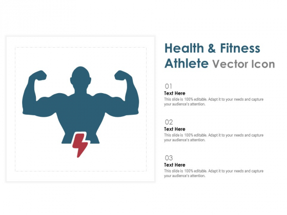 Health And Fitness Athlete Vector Icon Ppt PowerPoint Presentation Slides Background Image