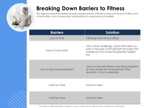 Health Breaking Down Barriers To Fitness Ppt Slides Graphics Download PDF
