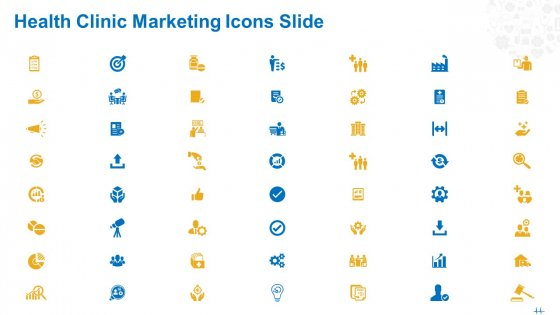 Health Clinic Marketing Icons Slide Ppt Portfolio Example Topics PDF