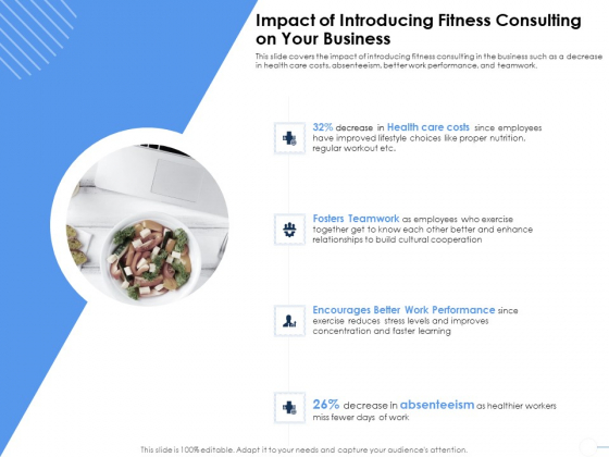 Health Impact Of Introducing Fitness Consulting On Your Business Ppt Show Format Ideas PDF