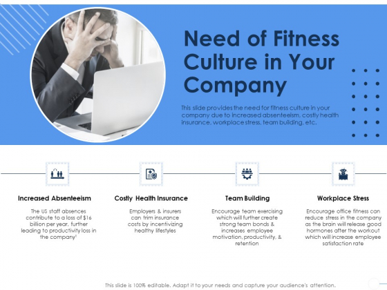 Health Need Of Fitness Culture In Your Company Ppt Infographic Template Shapes PDF