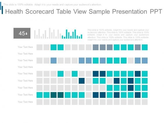 Health Scorecard Table View Sample Presentation Ppt