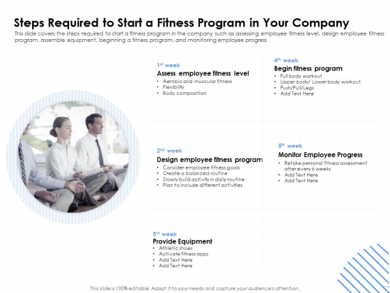 Health Steps Required To Start A Fitness Program In Your Company Ppt Layouts Template PDF