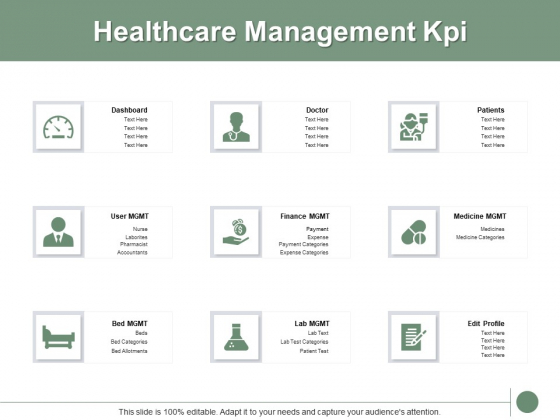Healthcare Management Kpi Ppt PowerPoint Presentation Infographic Template Shapes