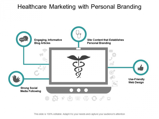 Healthcare Marketing With Personal Branding Ppt PowerPoint Presentation Ideas Microsoft
