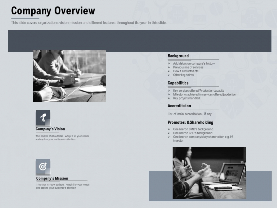 Healthcare Merchandising Company Overview Sample PDF