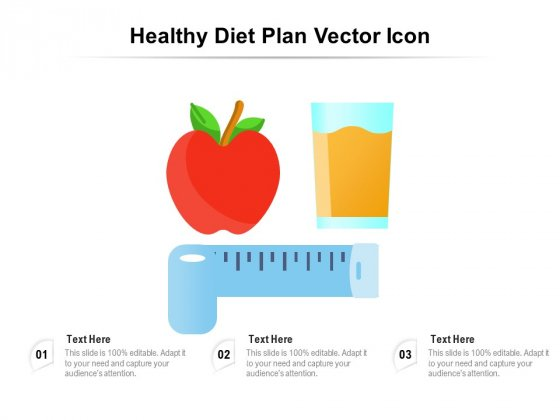 Healthy Diet Plan Vector Icon Ppt PowerPoint Presentation File Slides PDF