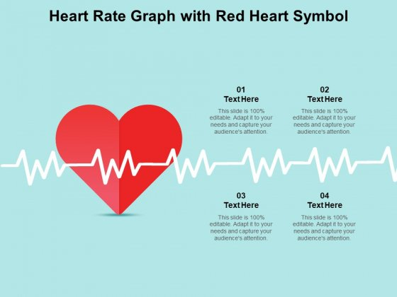 Heart Rate Graph With Red Heart Symbol Ppt PowerPoint Presentation Styles Themes