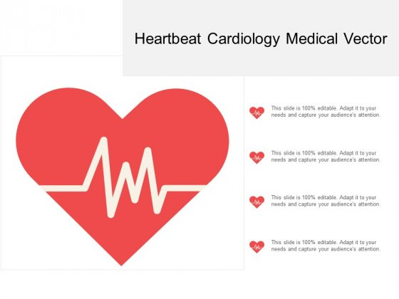 Heartbeat Cardiology Medical Vector Ppt PowerPoint Presentation Portfolio Visuals
