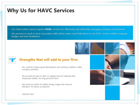 Heating Ventilation And Air Conditioning Installation Why Us For HAVC Services Ppt Visual Aids Portfolio PDF
