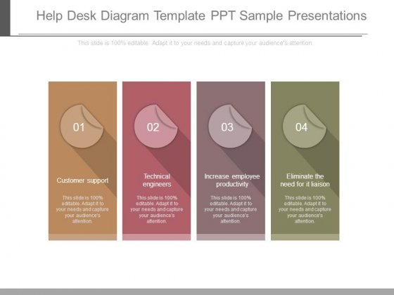 help desk diagram template ppt sample presentations - powerpoint, Presentation templates