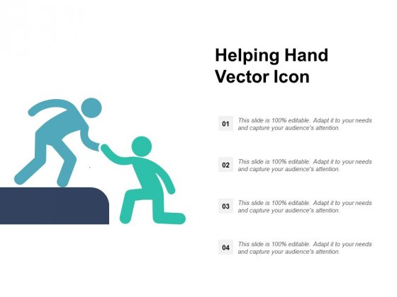 Helping Hand Vector Icon Ppt PowerPoint Presentation File Pictures