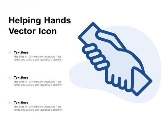 Helping Hands Vector Icon Ppt PowerPoint Presentation File Templates PDF