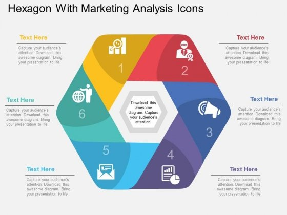 Hexagon With Marketing Analysis Icons Powerpoint Template ...