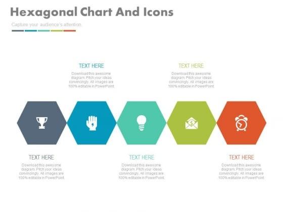 Hexagonal Chart For Market Research Management Powerpoint Template