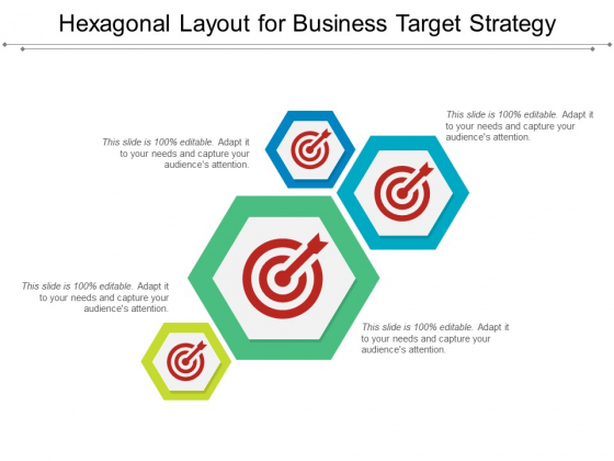 Hexagonal Layout For Business Target Strategy Ppt PowerPoint Presentation Professional Structure PDF