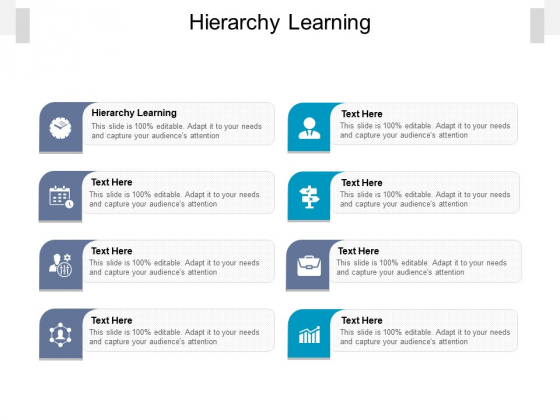 Hierarchy Learning Ppt PowerPoint Presentation Inspiration Microsoft Cpb Pdf