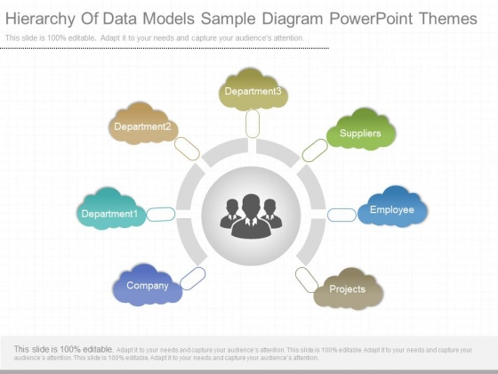 Hierarchy Of Data Models Sample Diagram Powerpoint Themes