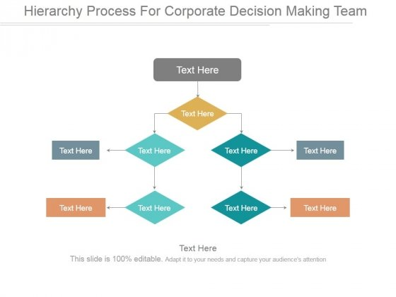 Hierarchy Process For Corporate Decision Making Team Ppt PowerPoint Presentation Tips