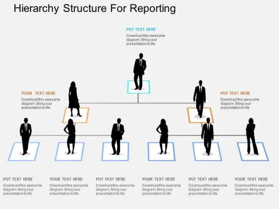 Hierarchy Structure For Reporting Powerpoint Templates