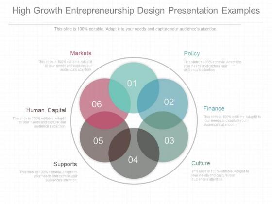 High Growth Entrepreneurship Design Presentation Examples
