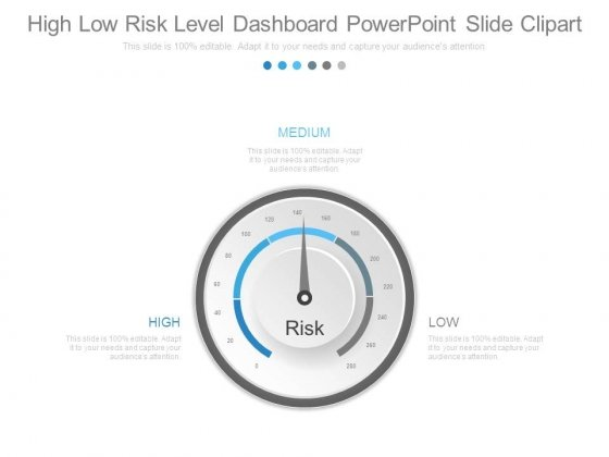 High Low Risk Level Dashboard Powerpoint Slide Clipart