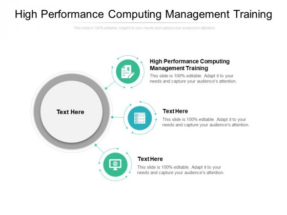 High Performance Computing Management Training Ppt PowerPoint Presentation Background Images Cpb