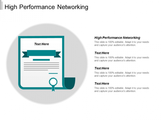 High Performance Networking Ppt PowerPoint Presentation Infographic Template Layout Cpb