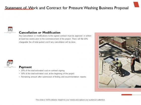 High Power Cleansing Work Statement Of Work And Contract For Pressure Washing Business Formats PDF